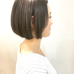 ショートボブ ヘアアレンジ ナチュラル ボブ ヘアスタイルや髪型の写真・画像