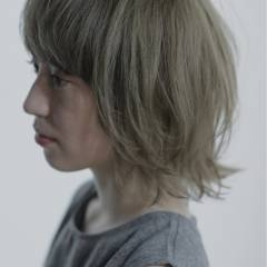 モード ボブ 抜け感 ウルフカット ヘアスタイルや髪型の写真・画像