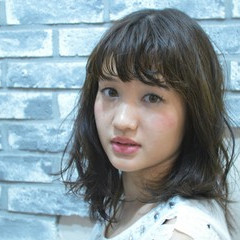 ゆるふわ 大人女子 ミディアム パーマ ヘアスタイルや髪型の写真・画像