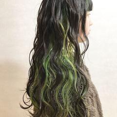 ハイライト ストリート ロング ハイトーン ヘアスタイルや髪型の写真・画像