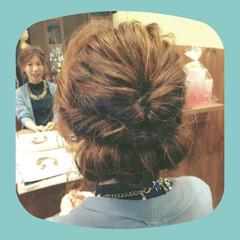 大人かわいい まとめ髪 外国人風 編み込み ヘアスタイルや髪型の写真・画像