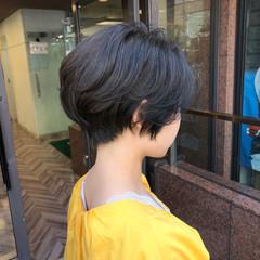 ナチュラル ショートボブ ハンサムショート ショートヘア ヘアスタイルや髪型の写真・画像