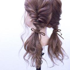 ゆるふわ ヘアアレンジ 簡単ヘアアレンジ ロング ヘアスタイルや髪型の写真・画像
