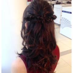 ロング ねじり コンサバ 大人かわいい ヘアスタイルや髪型の写真・画像