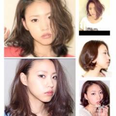 ブラウンベージュ 大人かわいい 外国人風 セミロング ヘアスタイルや髪型の写真・画像