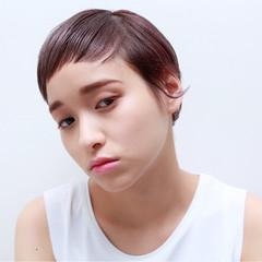 ショート モード ウェットヘア イルミナカラー ヘアスタイルや髪型の写真・画像