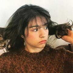ナチュラル 前髪あり セミロング ゆるふわ ヘアスタイルや髪型の写真・画像