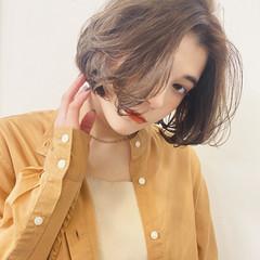 パーマ ボブ 毛先パーマ  ヘアスタイルや髪型の写真・画像