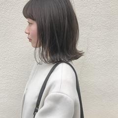 ロブ 切りっぱなし こなれ感 ナチュラル ヘアスタイルや髪型の写真・画像