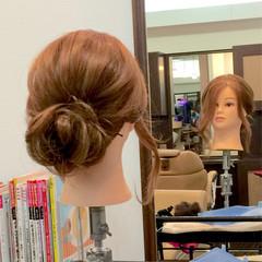 ヘアアレンジ アップスタイル 大人女子 セミロング ヘアスタイルや髪型の写真・画像