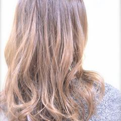 グラデーションカラー セミロング ストリート 大人かわいい ヘアスタイルや髪型の写真・画像