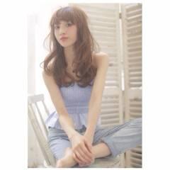 パンク フェミニン ウェーブ コンサバ ヘアスタイルや髪型の写真・画像