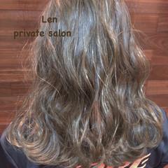 セミロング お出かけヘア オフィス フェミニン ヘアスタイルや髪型の写真・画像