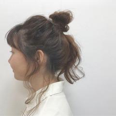 ヘアアレンジ ロング お団子 簡単ヘアアレンジ ヘアスタイルや髪型の写真・画像