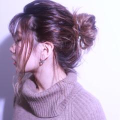 外国人風 シースルーバング ヘアアレンジ ショート ヘアスタイルや髪型の写真・画像