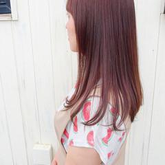 ハイライト ピンクベージュ ラベンダーピンク ナチュラル ヘアスタイルや髪型の写真・画像