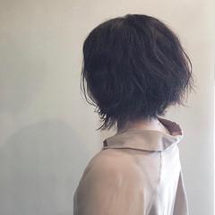 ナチュラル ボブ くせ毛 簡単スタイリング ヘアスタイルや髪型の写真・画像