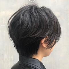アンニュイほつれヘア スポーツ アウトドア ショート ヘアスタイルや髪型の写真・画像