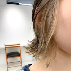 簡単スタイリング ボブ ナチュラル インナーカラー ヘアスタイルや髪型の写真・画像