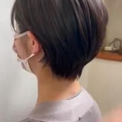 就活 ショート ナチュラル ショートヘア ヘアスタイルや髪型の写真・画像