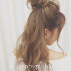 ショート セミロング 簡単ヘアアレンジ ヘアアレンジ ヘアスタイルや髪型の写真・画像