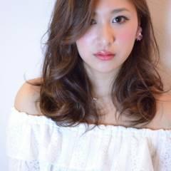 モテ髪 ミディアム 大人かわいい コンサバ ヘアスタイルや髪型の写真・画像