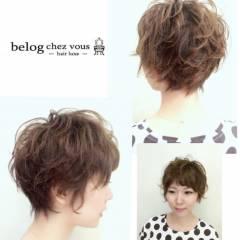 ショート ストリート パーマ 小顔 ヘアスタイルや髪型の写真・画像