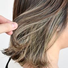 グレージュ ストリート ボブ グラデーションカラー ヘアスタイルや髪型の写真・画像