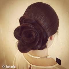 愛され まとめ髪 コンサバ 甘め ヘアスタイルや髪型の写真・画像