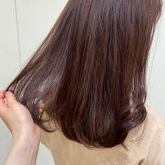 ピンクブラウン ピンクベージュ 韓国ヘア ゆるふわ ヘアスタイルや髪型の写真・画像