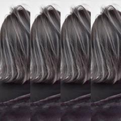 外国人風 ボブ ハイライト 外国人風カラー ヘアスタイルや髪型の写真・画像