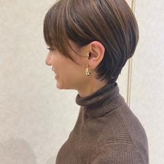 ショートボブ ショート ショートヘア ハイライト ヘアスタイルや髪型の写真・画像
