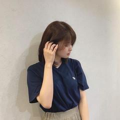 アッシュブラウン アッシュ 韓国ヘア ナチュラル ヘアスタイルや髪型の写真・画像