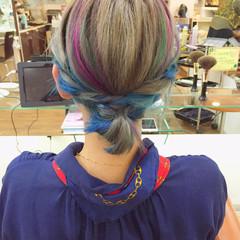 ガーリー シルバー カラーバター ハイトーン ヘアスタイルや髪型の写真・画像