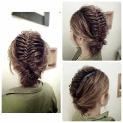 パーティ くるりんぱ アップスタイル ロング ヘアスタイルや髪型の写真・画像