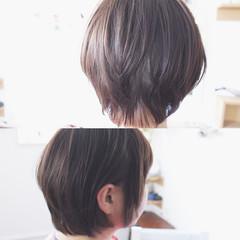 小顔 アッシュ グレージュ ナチュラル ヘアスタイルや髪型の写真・画像