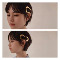 小顔ショート ワンカールパーマ ナチュラル ショートボブ ヘアスタイルや髪型の写真・画像