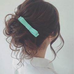 小顔 ロング 大人女子 結婚式 ヘアスタイルや髪型の写真・画像