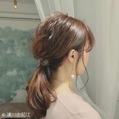 ヘアアレンジ デート 大人かわいい フェミニン ヘアスタイルや髪型の写真・画像