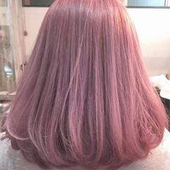 ベージュ ガーリー ボブ ラベンダーアッシュ ヘアスタイルや髪型の写真・画像