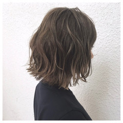 ハイライト ナチュラル 外国人風 ボブ ヘアスタイルや髪型の写真・画像