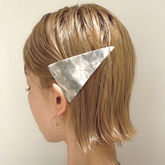 ミニボブ ナチュラル ボブ ミルクティーベージュ ヘアスタイルや髪型の写真・画像