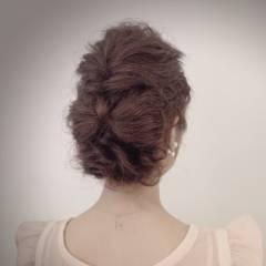 ナチュラル フェミニン ヘアアレンジ ヘアスタイルや髪型の写真・画像