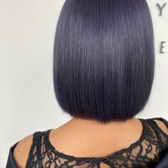 ブルー ストリート ネイビーカラー ネイビー ヘアスタイルや髪型の写真・画像