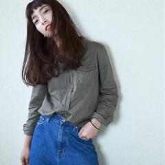 上品 エレガント 斜め前髪 ロング ヘアスタイルや髪型の写真・画像