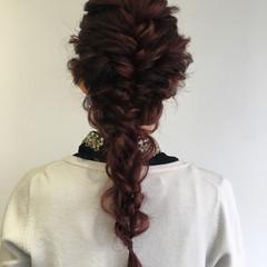 結婚式 上品 エレガント ロング ヘアスタイルや髪型の写真・画像