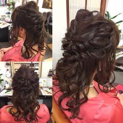 ヘアアレンジ ミディアム デート パーティ ヘアスタイルや髪型の写真・画像