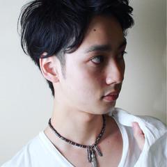 ショート 黒髪 パーマ ボーイッシュ ヘアスタイルや髪型の写真・画像