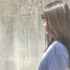 外国人風 セミロング ハイライト ローライト ヘアスタイルや髪型の写真・画像