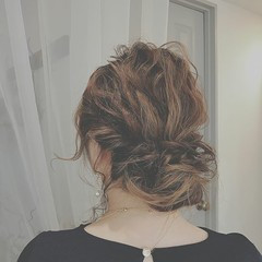 ゆるふわ ロング ヘアアレンジ フェミニン ヘアスタイルや髪型の写真・画像